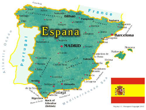 Map Of Espana Spain Map and Fact Sheet | Hip Travel Guide Map Of Espana